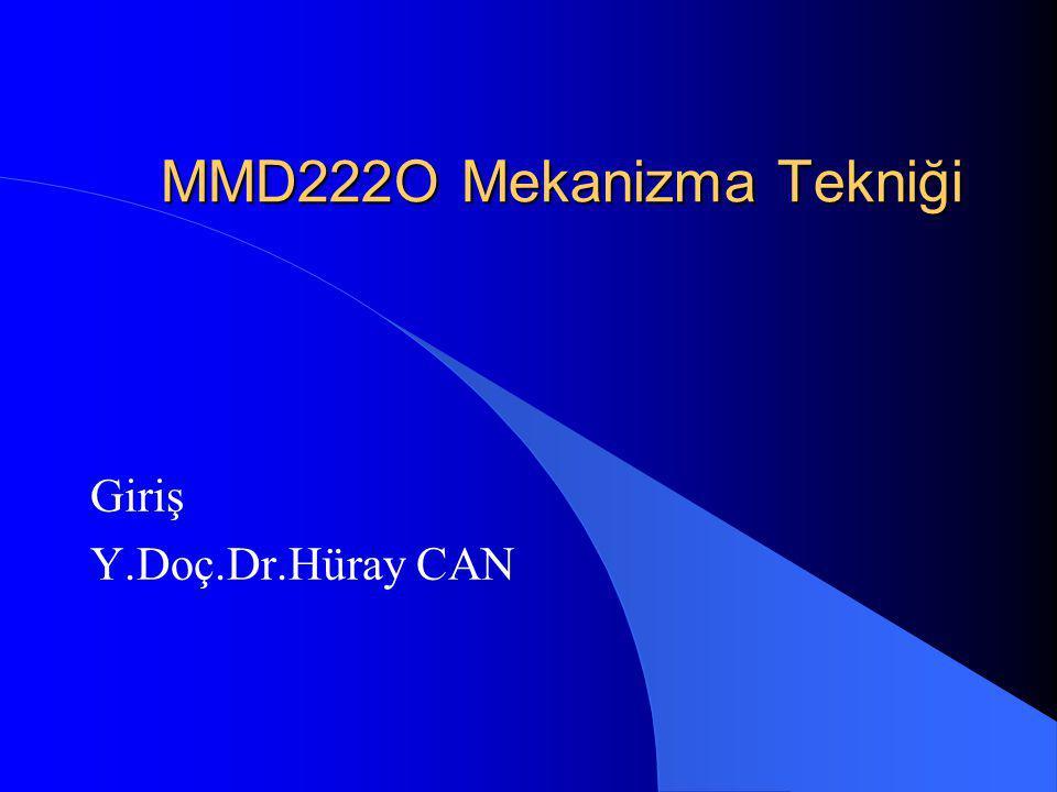 MMD222O Mekanizma Tekniği
