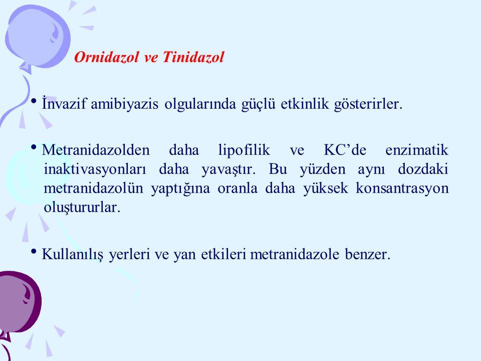 Ornidazol ve Tinidazol