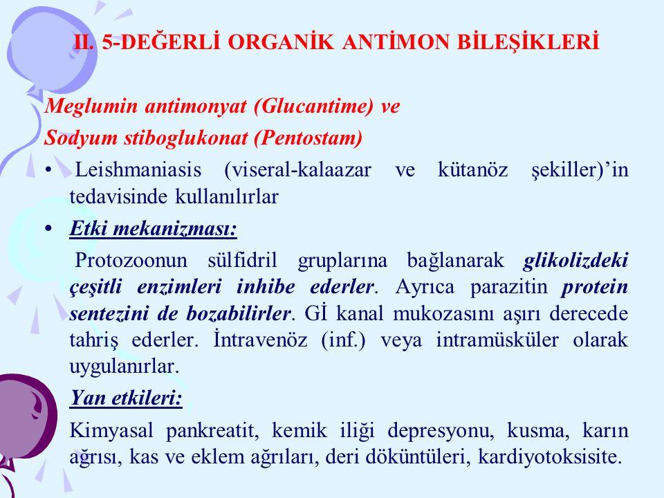 II. 5-DEĞERLİ ORGANİK ANTİMON BİLEŞİKLERİ