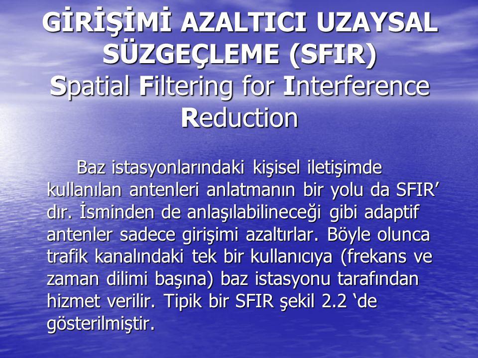 GİRİŞİMİ AZALTICI UZAYSAL SÜZGEÇLEME (SFIR) Spatial Filtering for Interference Reduction