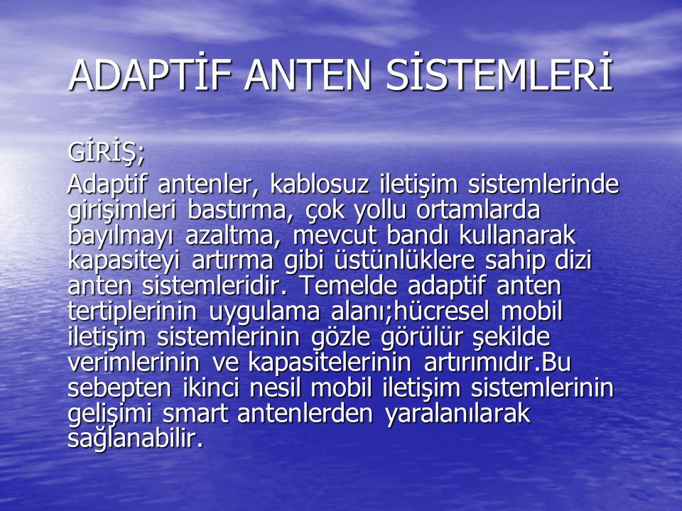 ADAPTİF ANTEN SİSTEMLERİ