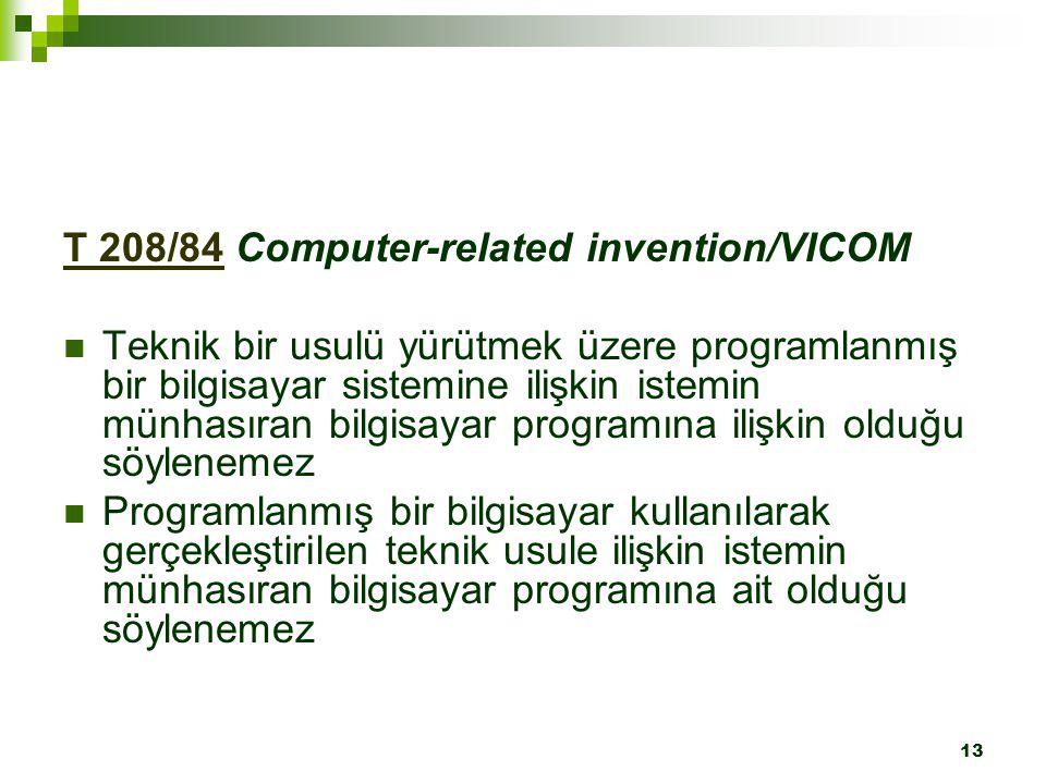 T 208/84 Computer-related invention/VICOM
