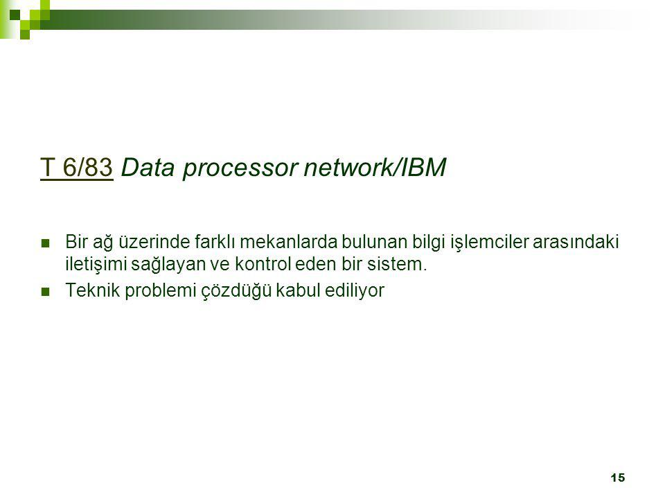 T 6/83 Data processor network/IBM