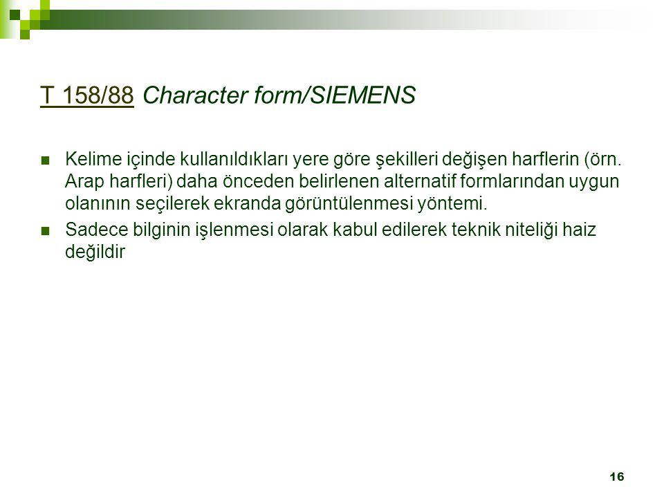 T 158/88 Character form/SIEMENS