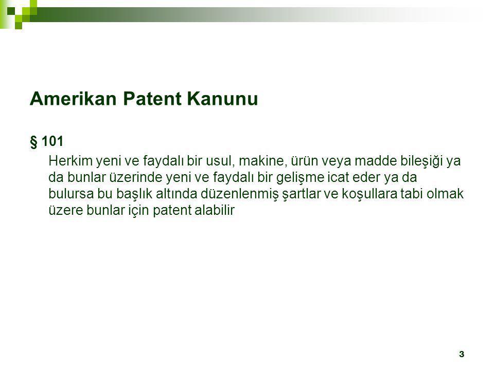 Amerikan Patent Kanunu