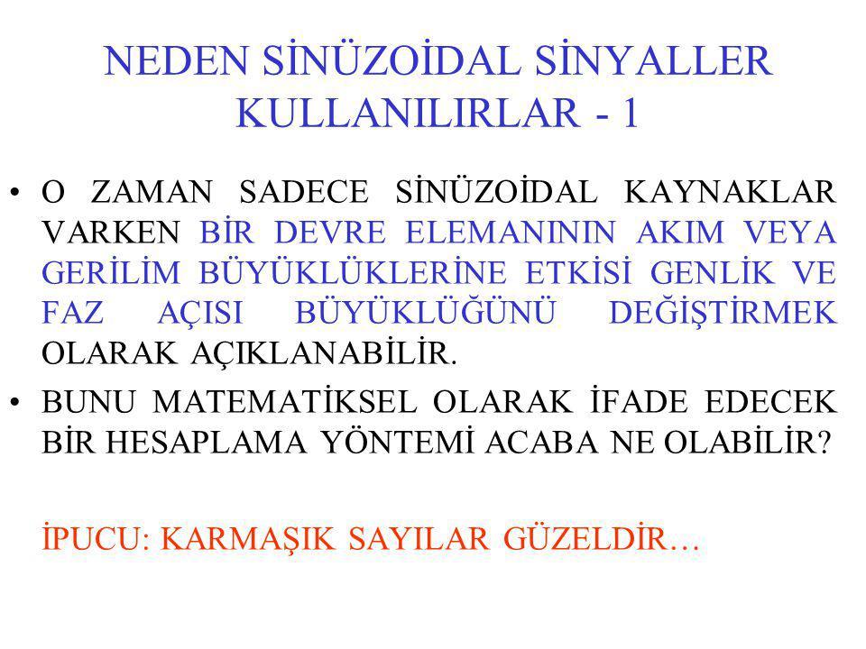 NEDEN SİNÜZOİDAL SİNYALLER KULLANILIRLAR - 1