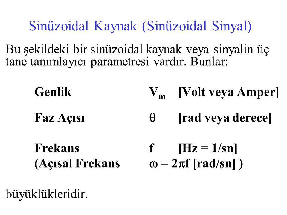 Sinüzoidal Kaynak (Sinüzoidal Sinyal)