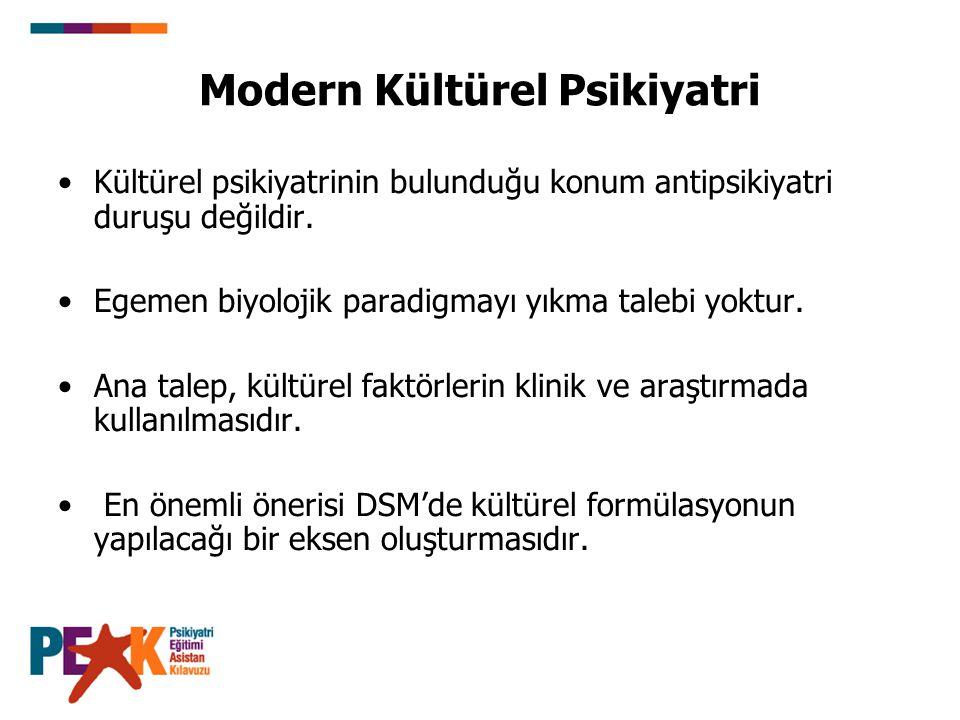 Modern Kültürel Psikiyatri