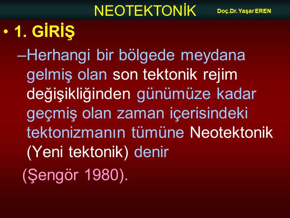 Doç.Dr. Yaşar EREN 1. GİRİŞ.