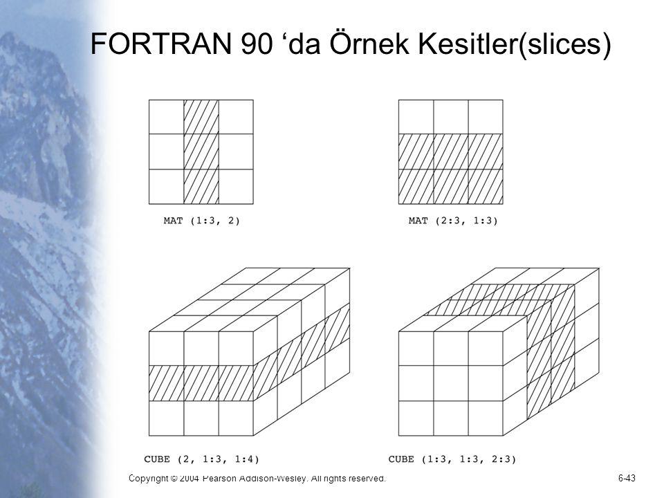 FORTRAN 90 'da Örnek Kesitler(slices)