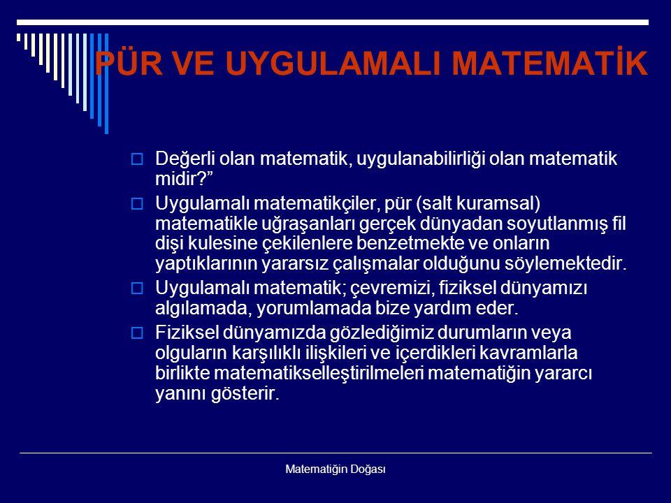 PÜR VE UYGULAMALI MATEMATİK