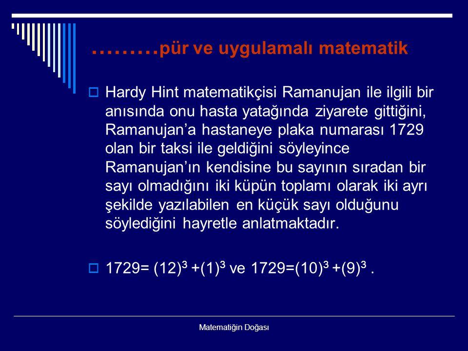 ………pür ve uygulamalı matematik