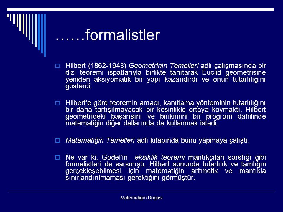 ……formalistler