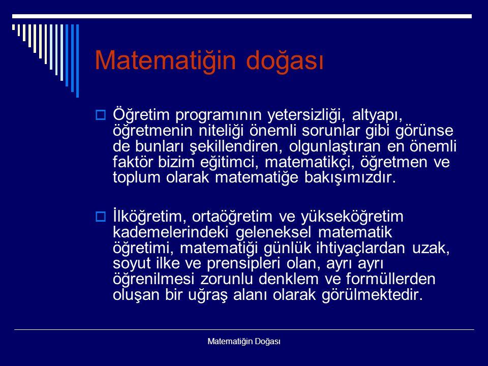 Matematiğin doğası