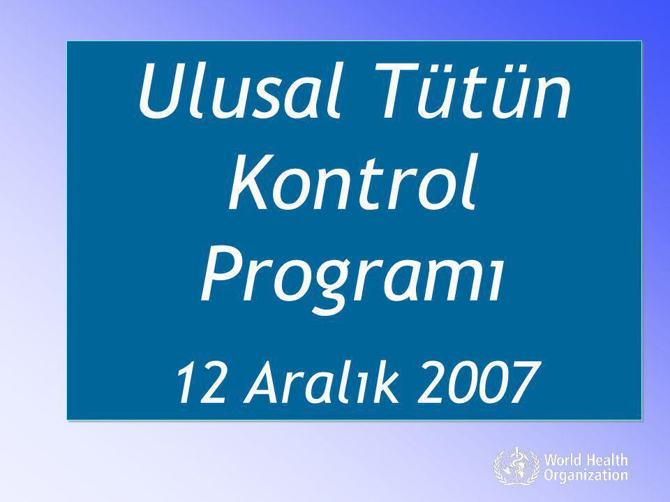 Ulusal Tütün Kontrol Programı 12 Aralık 2007