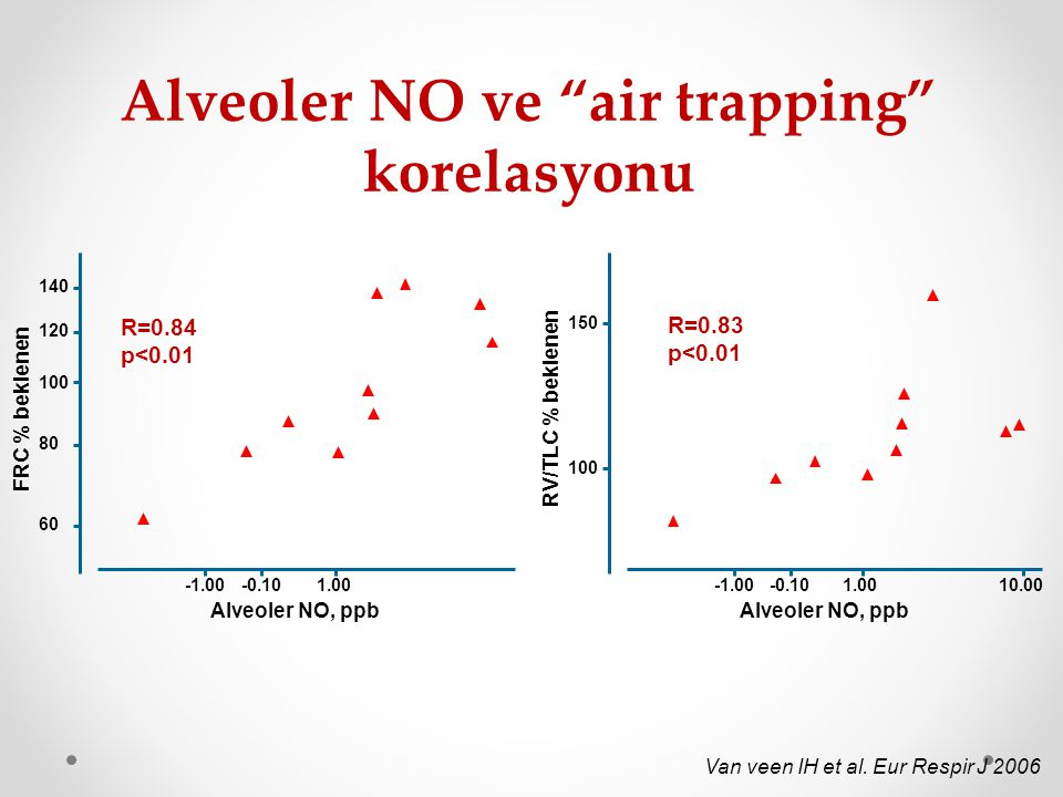 Alveoler NO ve air trapping korelasyonu