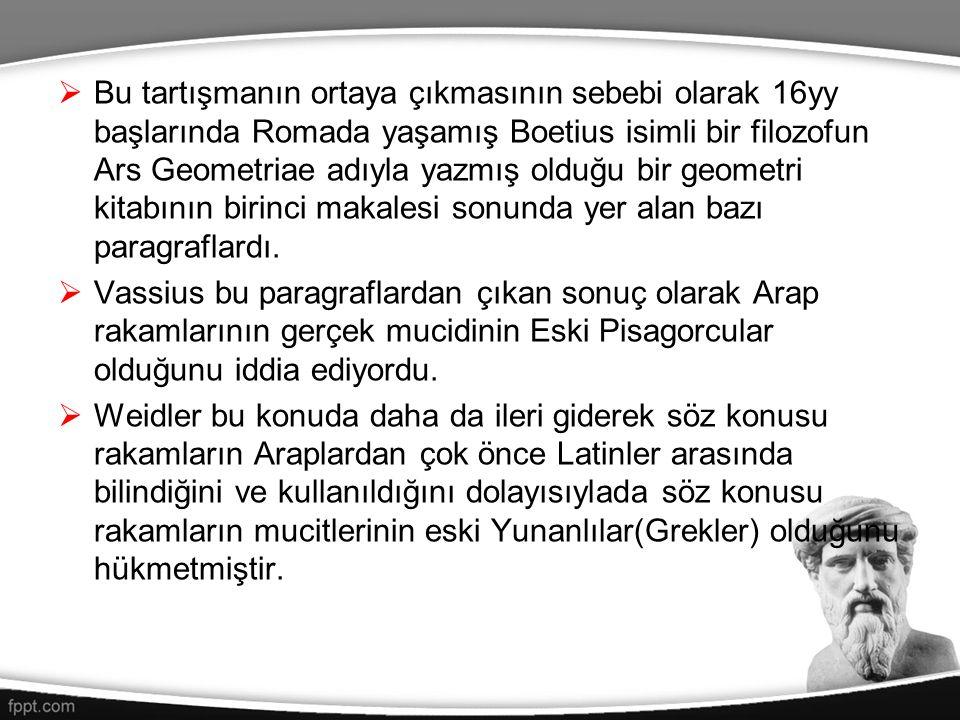Bu tartışmanın ortaya çıkmasının sebebi olarak 16yy başlarında Romada yaşamış Boetius isimli bir filozofun Ars Geometriae adıyla yazmış olduğu bir geometri kitabının birinci makalesi sonunda yer alan bazı paragraflardı.