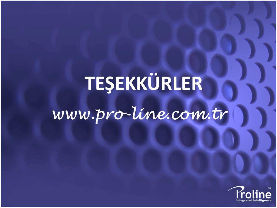 TEŞEKKÜRLER TEŞEKKÜRLER www.pro-line.com.tr