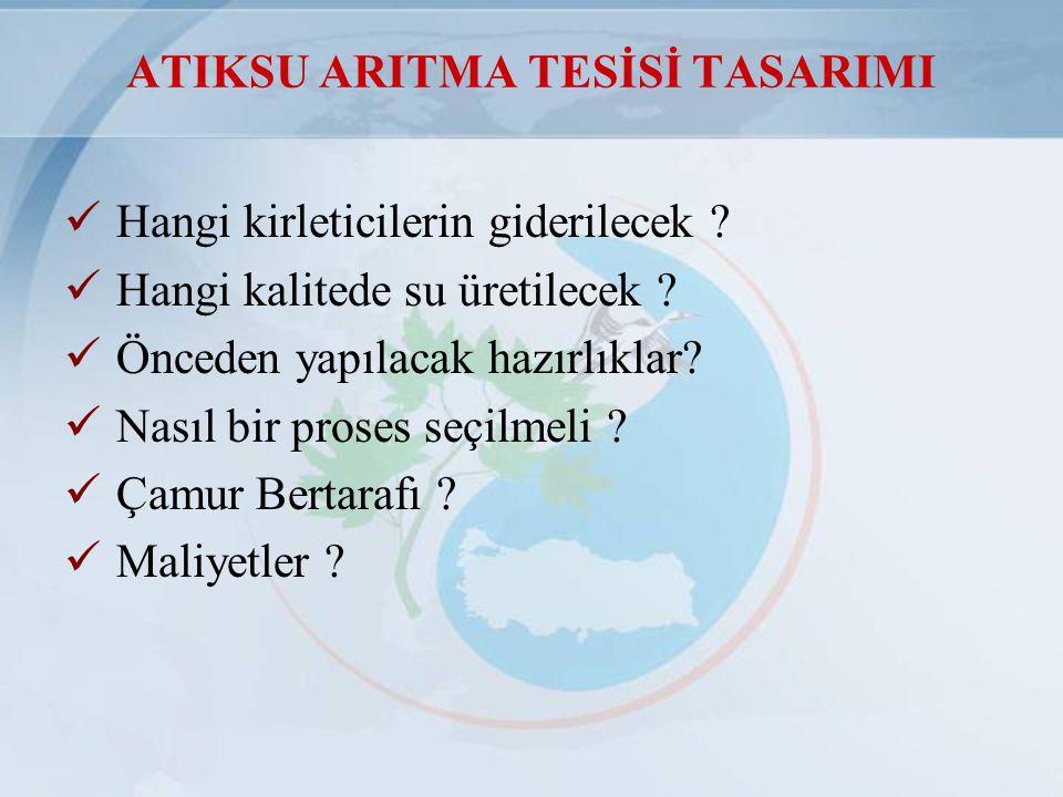 ATIKSU ARITMA TESİSİ TASARIMI