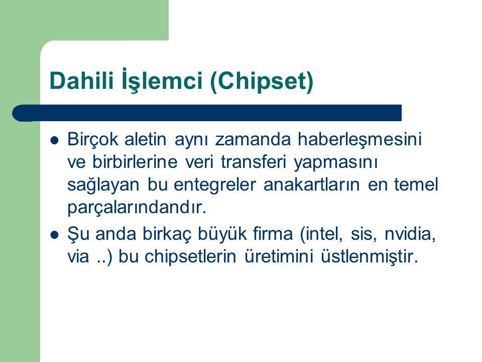 Dahili İşlemci (Chipset)