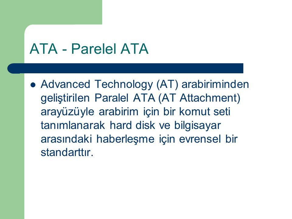 ATA - Parelel ATA