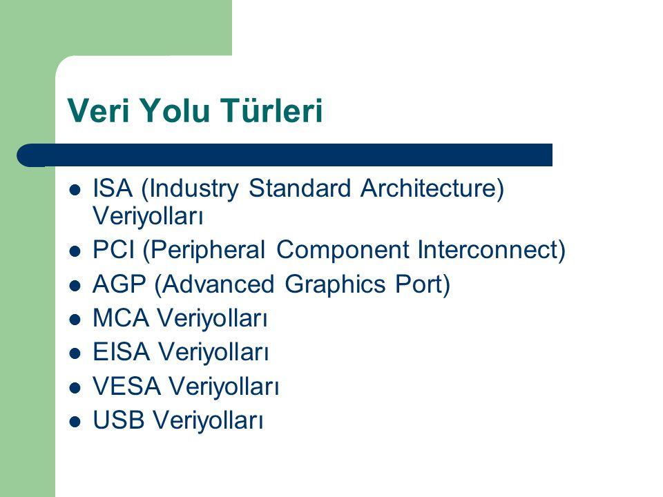 Veri Yolu Türleri ISA (Industry Standard Architecture) Veriyolları
