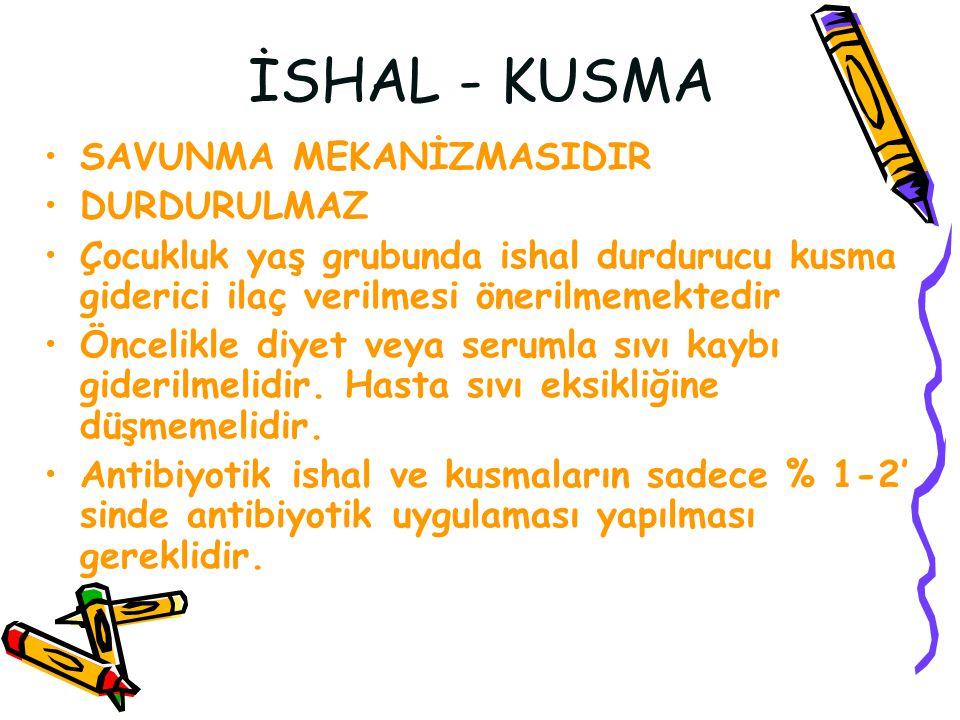 İSHAL - KUSMA SAVUNMA MEKANİZMASIDIR DURDURULMAZ