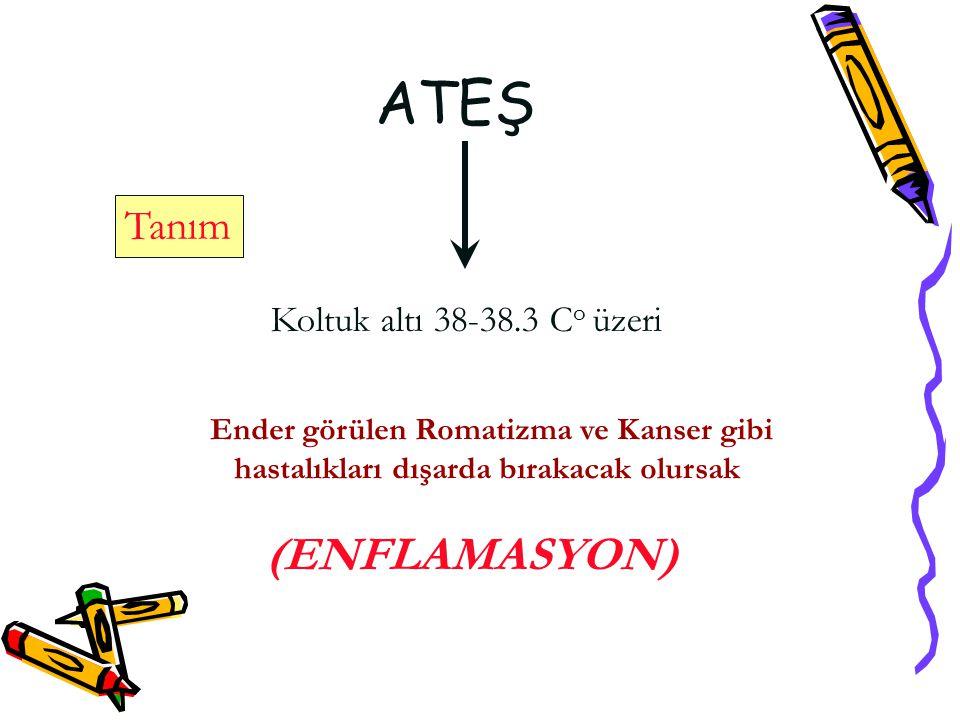 ATEŞ Tanım Koltuk altı 38-38.3 Co üzeri