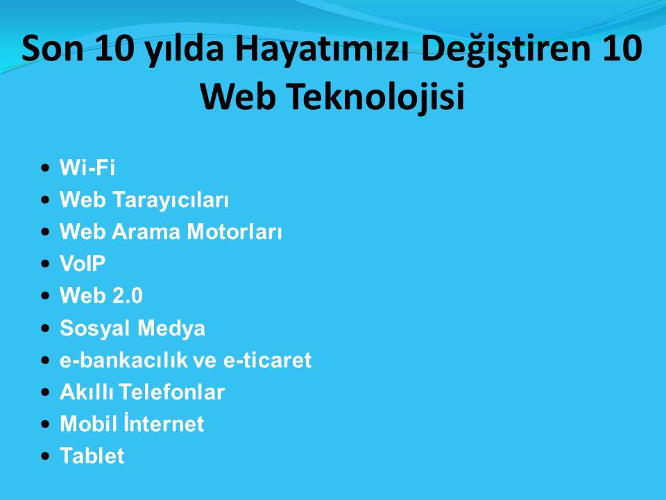 Son 10 yılda Hayatımızı Değiştiren 10 Web Teknolojisi