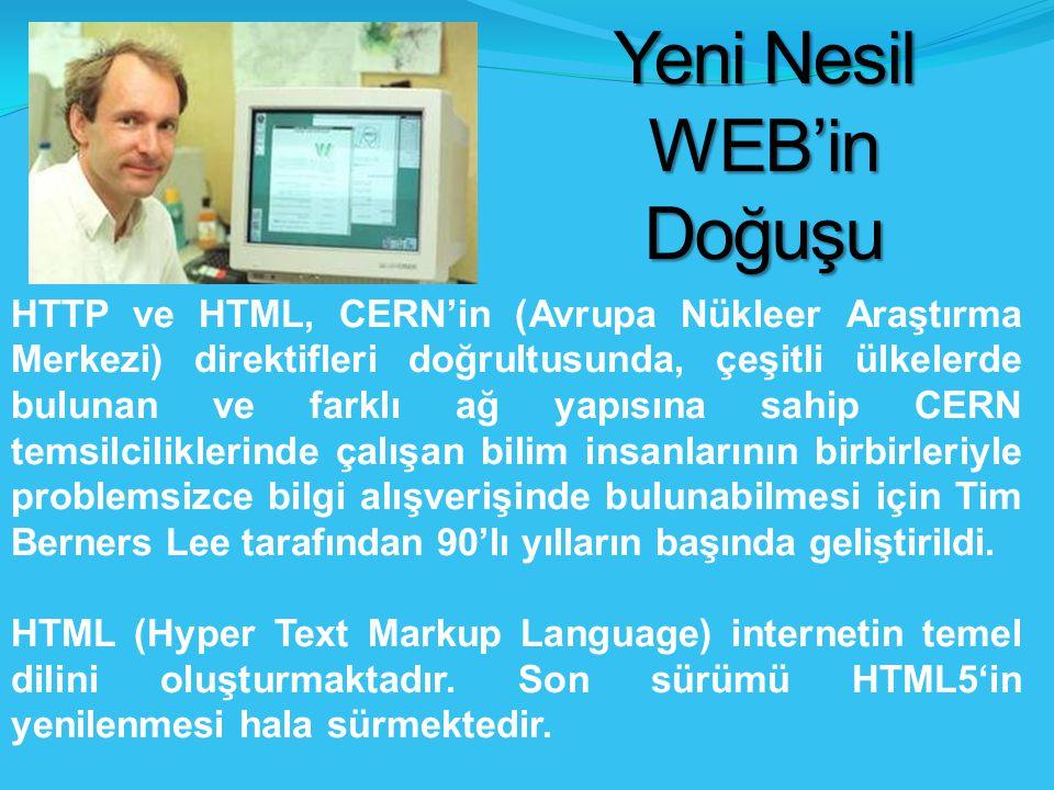 Yeni Nesil WEB'in Doğuşu