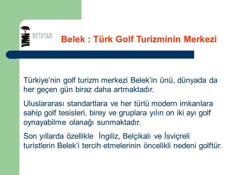 Belek : Türk Golf Turizminin Merkezi