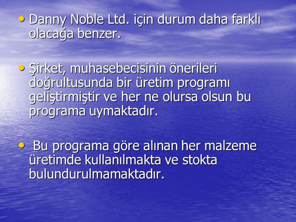 Danny Noble Ltd. için durum daha farklı olacağa benzer.