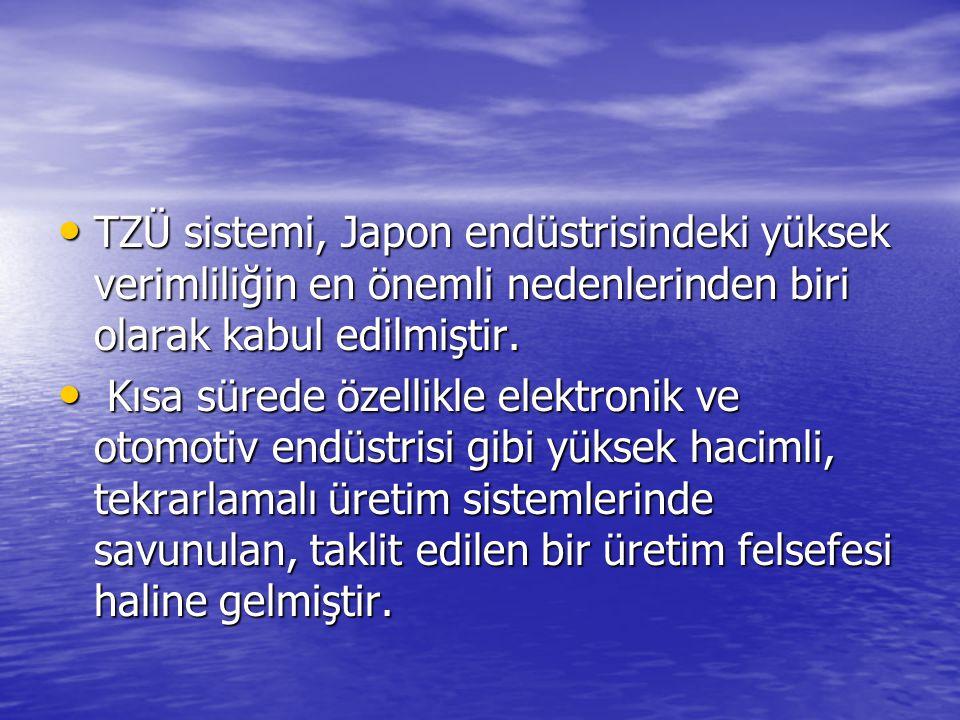 TZÜ sistemi, Japon endüstrisindeki yüksek verimliliğin en önemli nedenlerinden biri olarak kabul edilmiştir.