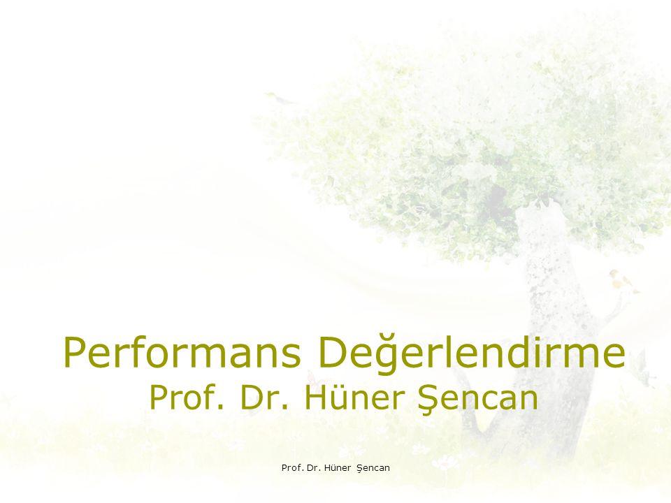 Performans Değerlendirme Prof. Dr. Hüner Şencan