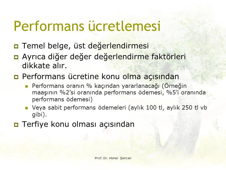 Performans ücretlemesi