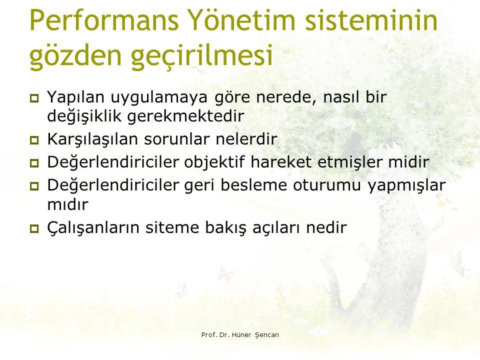 Performans Yönetim sisteminin gözden geçirilmesi