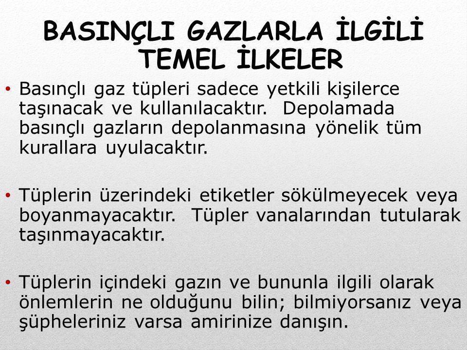 BASINÇLI GAZLARLA İLGİLİ TEMEL İLKELER