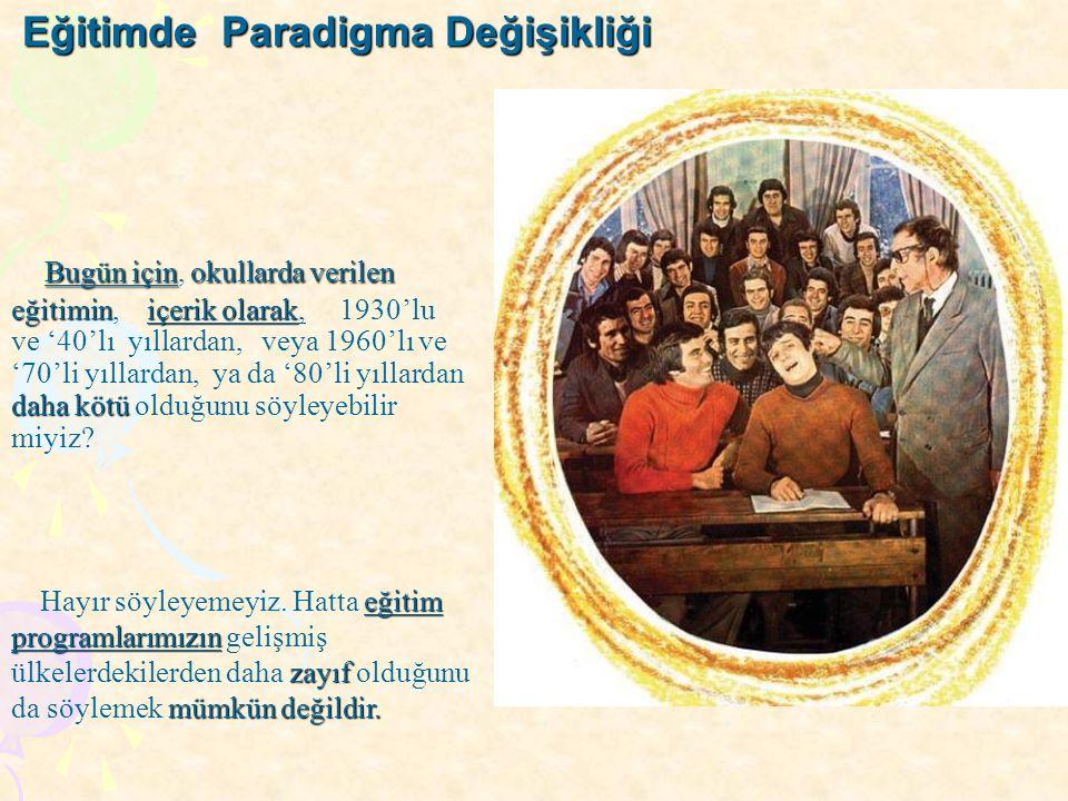 Eğitimde Paradigma Değişikliği
