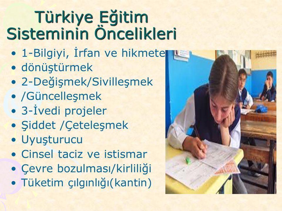 Türkiye Eğitim Sisteminin Öncelikleri