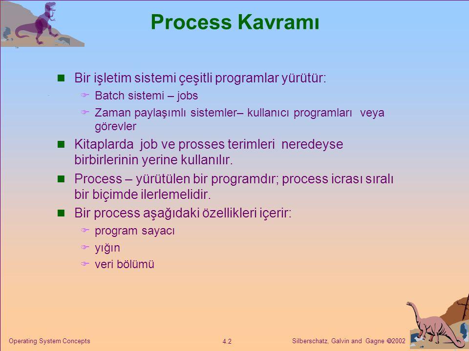 Process Kavramı Bir işletim sistemi çeşitli programlar yürütür: