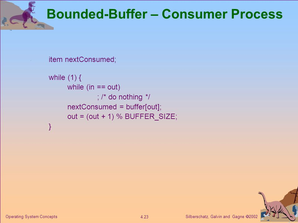 Bounded-Buffer – Consumer Process