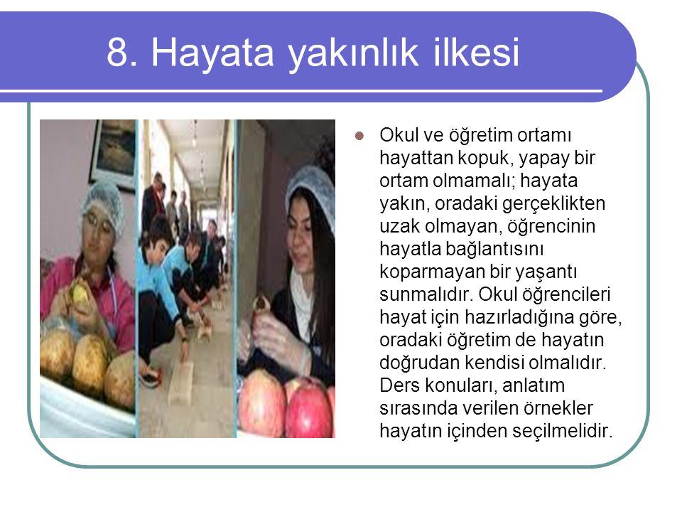 8. Hayata yakınlık ilkesi
