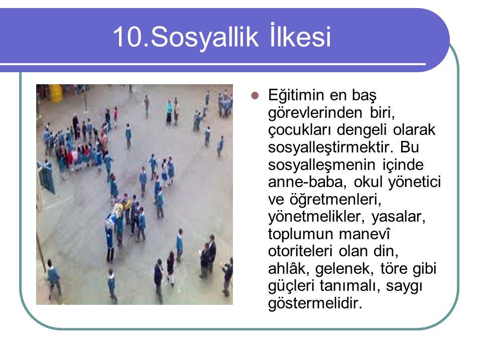 10.Sosyallik İlkesi