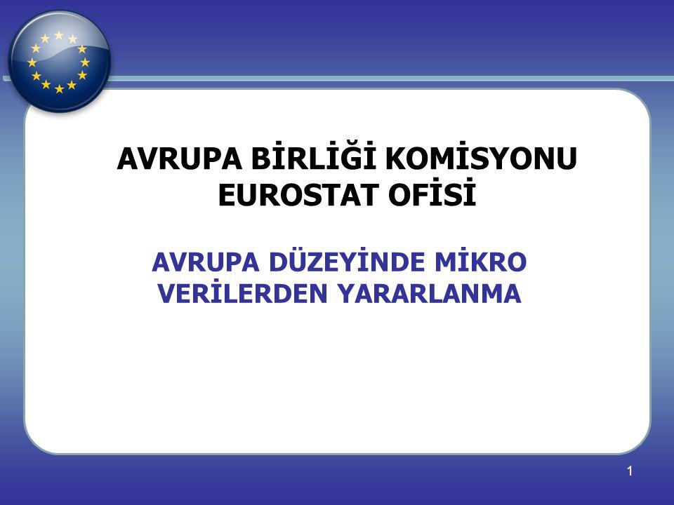 AVRUPA BİRLİĞİ KOMİSYONU EUROSTAT OFİSİ
