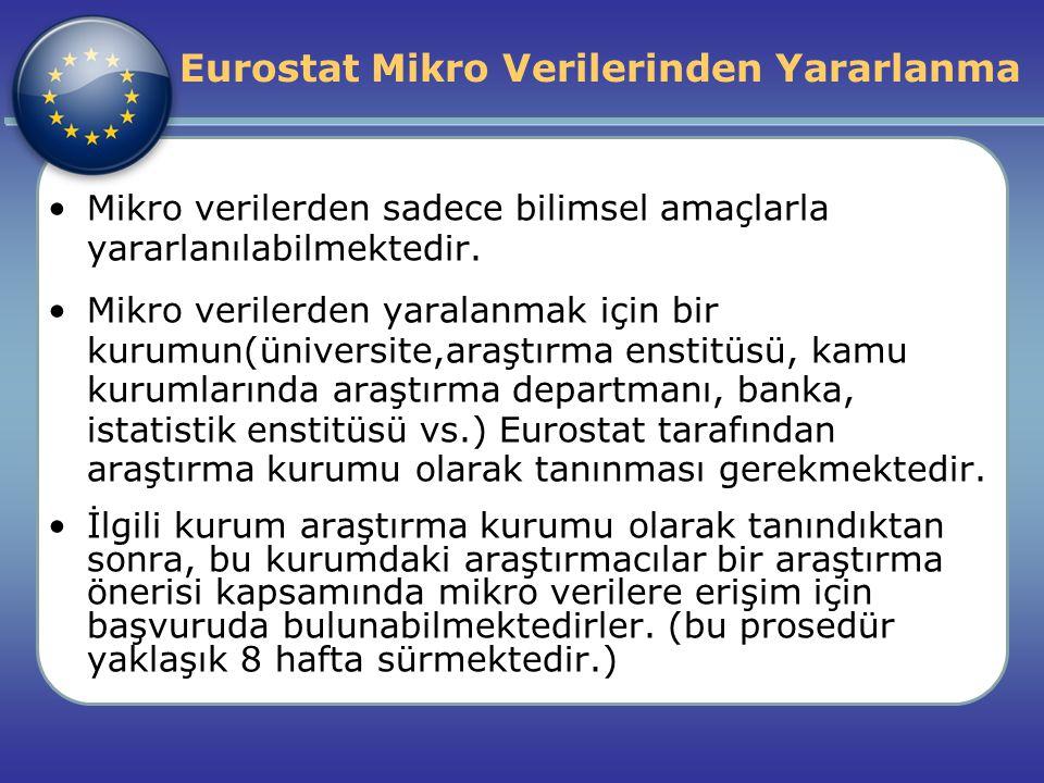 Eurostat Mikro Verilerinden Yararlanma