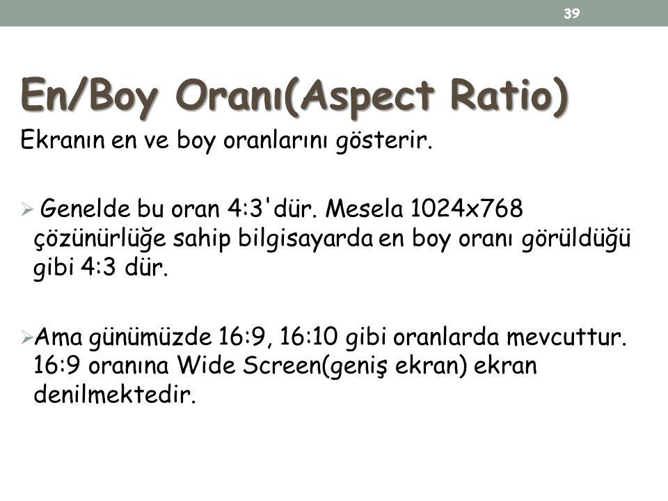 En/Boy Oranı(Aspect Ratio)