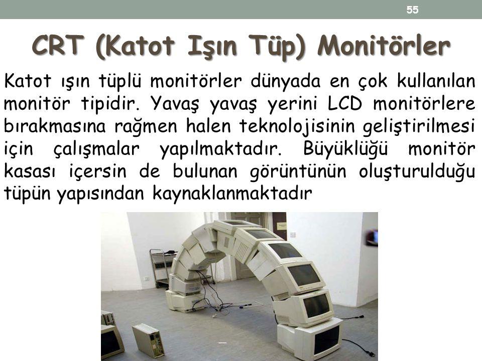 CRT (Katot Işın Tüp) Monitörler