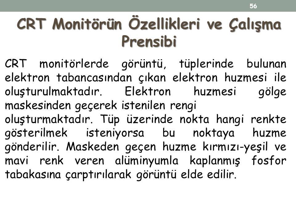 CRT Monitörün Özellikleri ve Çalışma Prensibi
