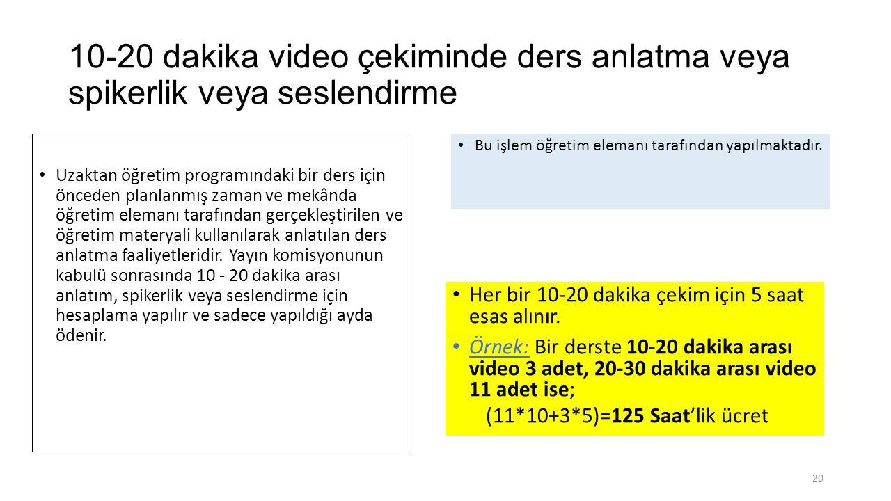 10-20 dakika video çekiminde ders anlatma veya spikerlik veya seslendirme