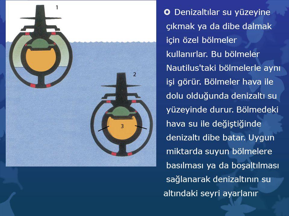 Denizaltılar su yüzeyine